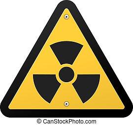 jądrowy, symbol, promieniowanie