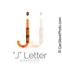 j, デザイン, 最小である, 手紙, 線, ロゴ
