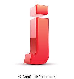 j, 手紙, 3d