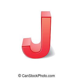 j, 赤, 手紙, 3d