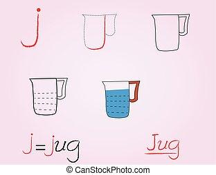 J, Comic alphabet,
