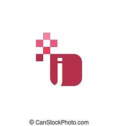 J Font Vector Template Design