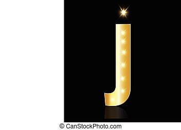 J letter with glowing lights logo