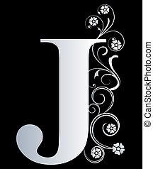 j, lettera, capitale