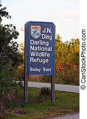 Refuge Sign Entrance - J N Ding Darling National Wildlife...