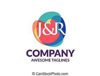 j, r, カラフルである, 抽象的, シンボル, 頭文字, 背景, 手紙