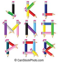 j-r, potloden, brief