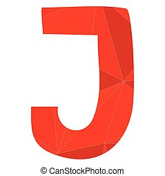 J red alphabet vector letter