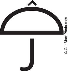 J umbrella logo