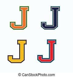 j, università, lettera