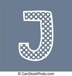 J vector polka dots alphabet letter
