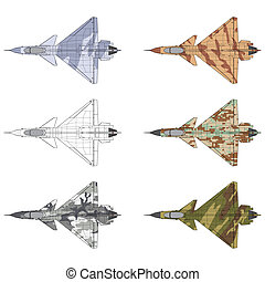 j10 cammo - High detailed vector illustration of a military...