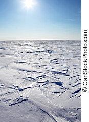 jałowy krajobraz, zima
