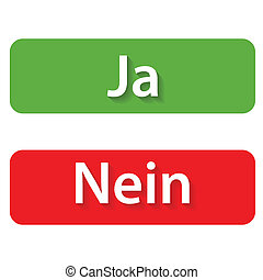 Ja and Nein Buttons