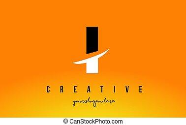 Tło F Nowoczesny żółty Projektować Litera Fi Logo Swoosh Fi
