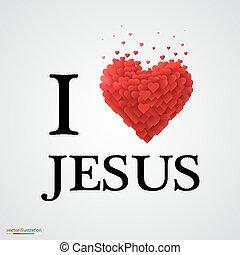 ja, miłość, jezus, serce, poznaczcie.