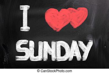 ja, miłość, niedziela, pojęcie