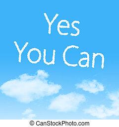 ja, u, groenteblik, wolk, pictogram, met, ontwerp, op, blauwe hemel, achtergrond