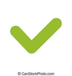 ja,  Vector, groene, pictogram, pictogram