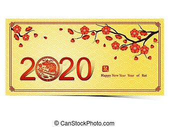 jaar, 2020, 3, chinees, nieuw