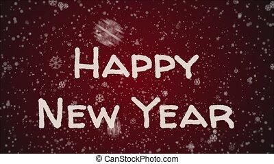 jaar, groet, animatie, nieuw, 2019, kaart, vrolijke