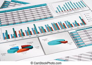 jaarlijks, report., graph., diagram., chart., analisys.