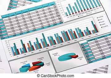 jaarverslag, van, outgoings, en, inkomend