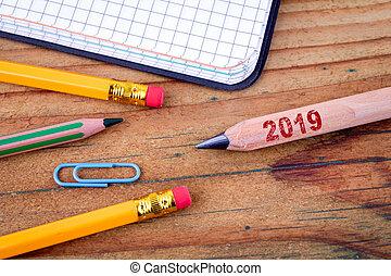 jaarwisseling, 2019, potlood