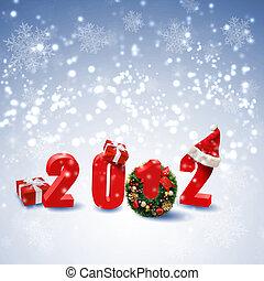 jaarwisseling, en, kerstmis, feestdagen