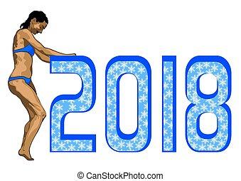 jaarwisseling, figuren, een