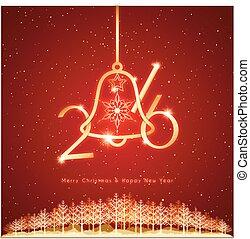 jaarwisseling, kerstmis, achtergrond, viering