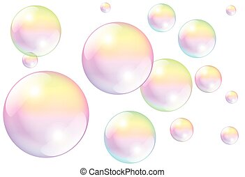 jabón burbujea, blanco