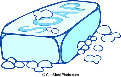 jabón, ilustración