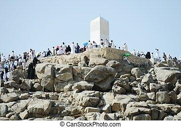 Jabal Arafat - Muslim pilgrims at jabal Arafat, Hajj