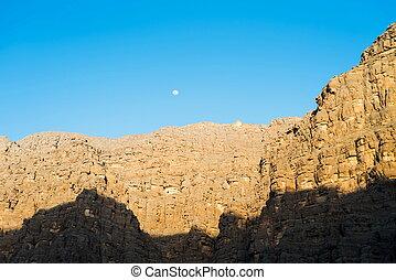 Jabal Jais mountain range in the north of UAE