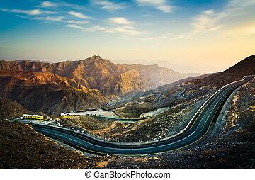Jabal Jais the highest mountain in the UAE
