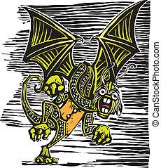 Jabberwocky from from Lewis Carroll's Alice in Wonderland.