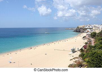 jable, île, fuerteventura, morro, canari, plage, espagne