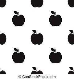 jablko, ovoce,  singe, ikona, čerň, ikona