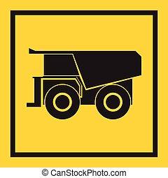 jabot, tracteur, excavateur, bulldozer