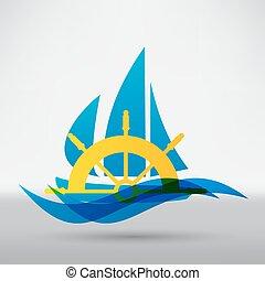 jacht, ikona