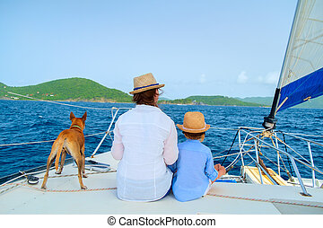 jacht, nawigacja, rodzina, luksus