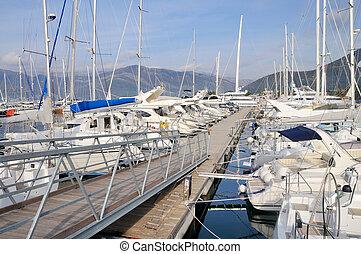 jachthaven, in, middellandse zee