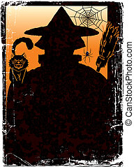 jack., affiche, vecteur, halloween, illustration