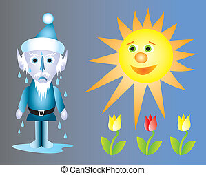 Jack Frost Melting - The heat from the spring sun melting ...