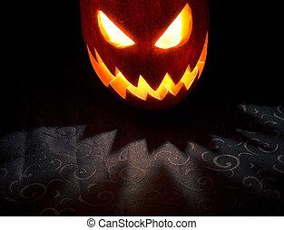 Jack-o-lantern 2 - Jack-o-lantern, Halloween pumpkin glowing...