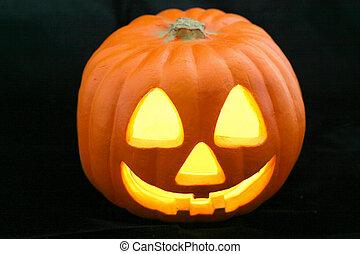 Jack-O-Lantern Black - A glowing Halloween Jack-O-Lantern...