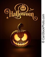 Jack-o-Lantern Dark Scary Rag-Doll - Vector illustration of...