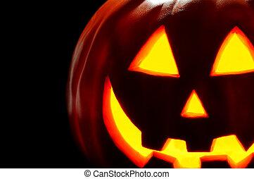 Halloween plastic jack 'o lantern