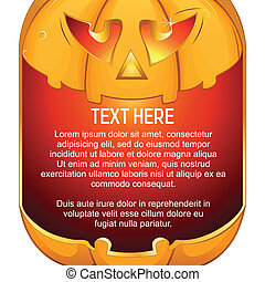 Jack O Lantern Halloween Pumpkin with Candle Light